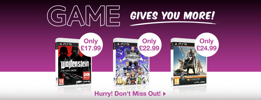 GAME Gives You More for PlayStation 3 - Buy Now at GAME.co.uk!