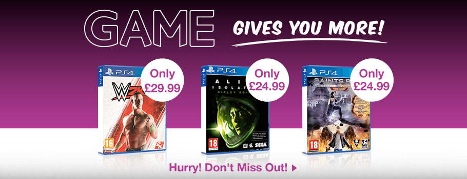 GAME Gives You More for PlayStation 4 - Buy Now at GAME.co.uk!