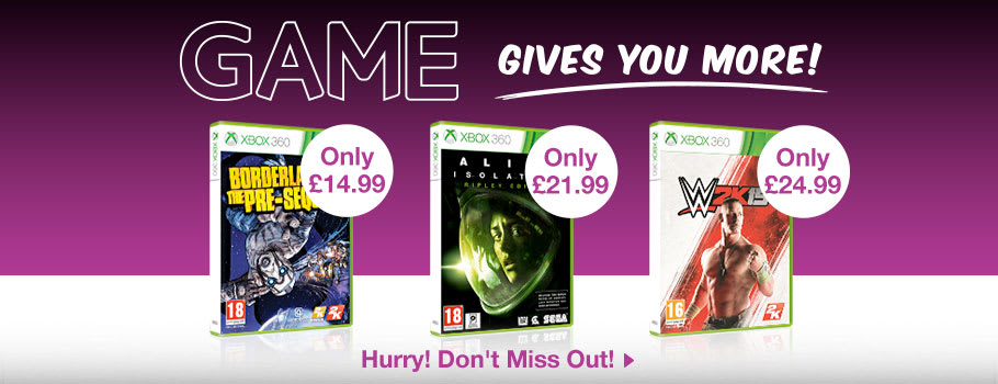 GAME Gives You More for Xbox 360 - Buy Now at GAME.co.uk!