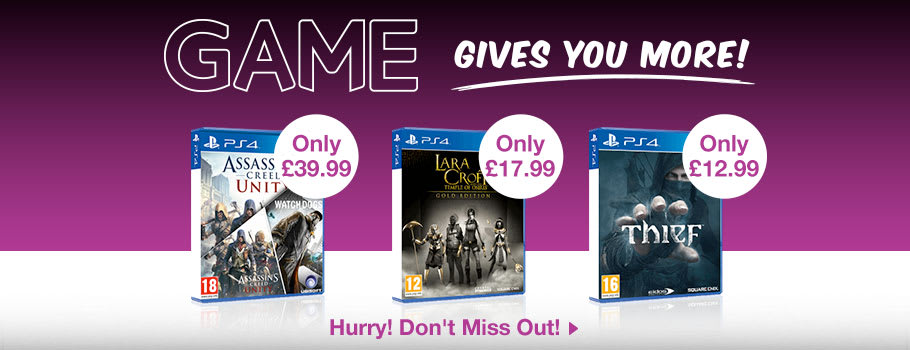 Deals for PlayStation 4 - Buy Now at GAME.co.uk!
