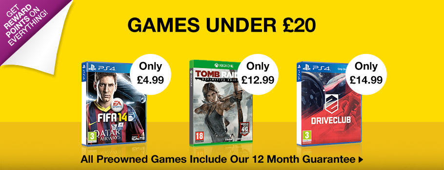 Games Under £20 - Buy Now at GAME.co.uk!