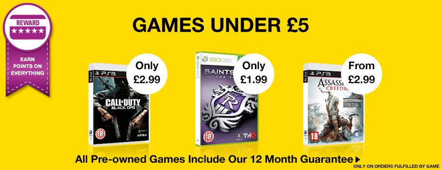Preowned Games Under £5 - Buy Now at GAME.co.uk!