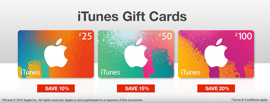 iTunes Gift Cards - Buy Now at GAME.co.uk!