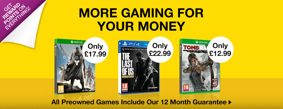 Preowned Xbox One and PlayStation 4 Deals - Buy Now at GAME.co.uk!