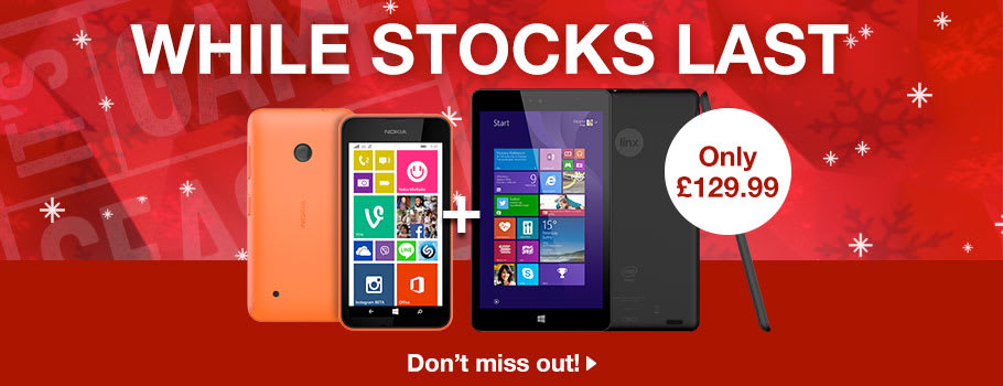 Microsoft Linx Tablet and Nokia Lumia 530 Deal - Buy Now at GAME.co.uk!