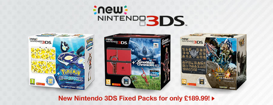 Console Fixed Packs for Nintendo 3DS - Buy Now at GAME.co.uk!