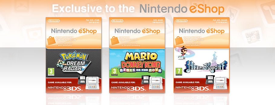 eShop Exclusives for Nintendo eShop - Download Now at GAME.co.uk!