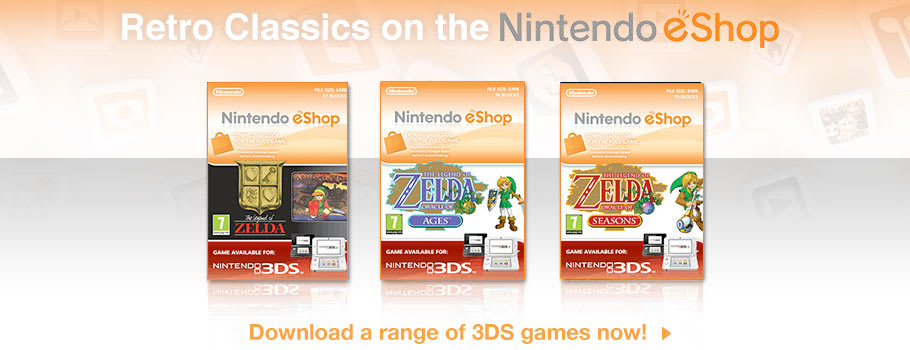Nintendo eShop Retro Classics for Nintendo 3DS - Download Now at GAME.co.uk!