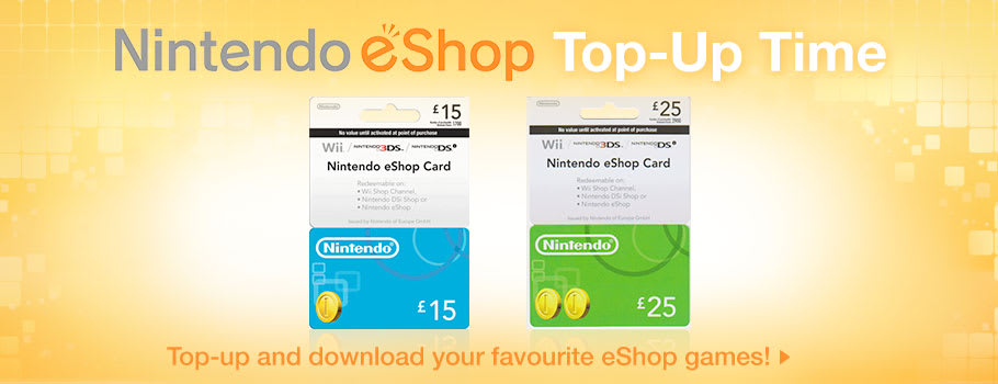 Nintendo eShop Top Up for Wii U and 3DS - Buy Now at GAME.co.uk!