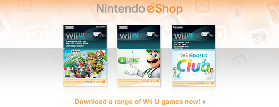 Nintendo eShop for Nintendo Wii U - Download Now at GAME.co.uk!