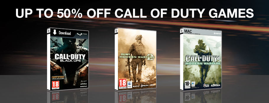 50% Off Call of Duty Games for PC Download - Download Now at GAME.co.uk!