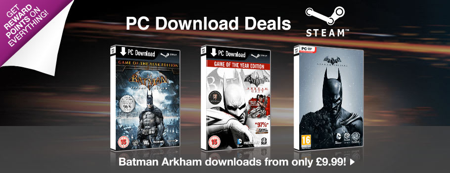 Batman Arkham Games for PC Download - Download Now at GAME.co.uk!