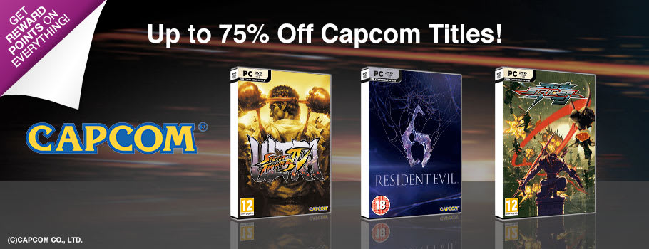 Up to 75% Off Capcom Games for PC Download - Download Now at GAME.co.uk!