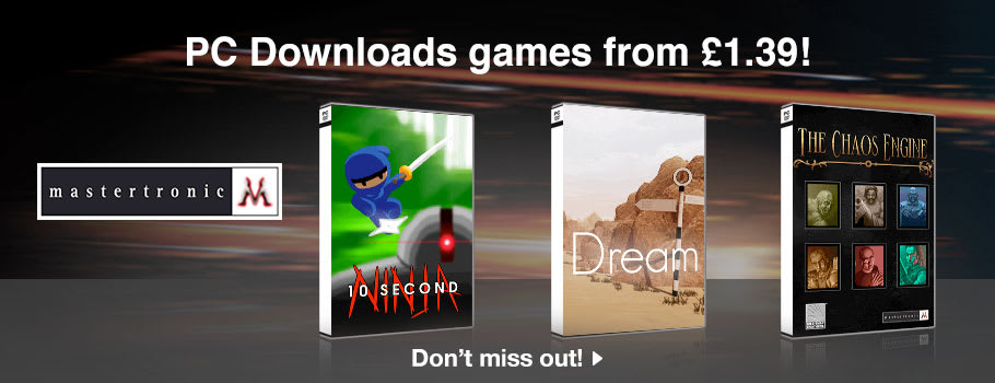 Mastertronics Deals for PC Download - Download Now at GAME.co.uk!