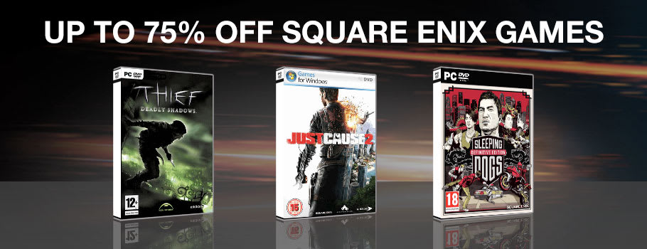 Up to 75% Off Square Enix Games for PC Download - Download Now at GAME.co.uk!