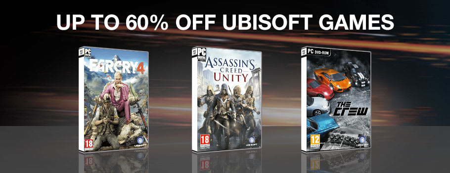 Up to 60% Off Ubisoft Games for PC Download - Download Now at GAME.co.uk!