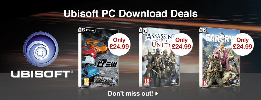 Ubisoft Deals for PC Download - Buy Now at GAME.co.uk!