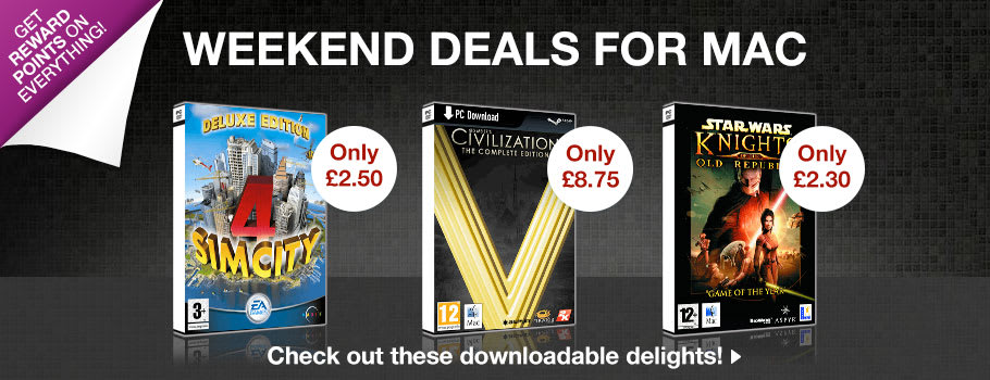 Mac Weekend Deals for PC Download - Download Now at GAME.co.uk!