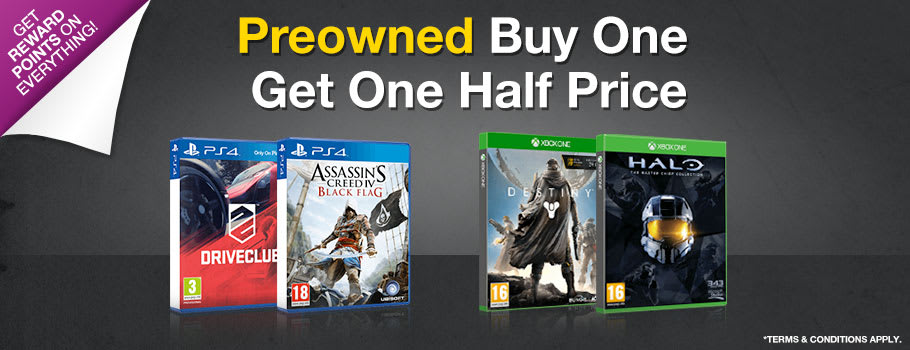 Preowned Buy One Get One Half Price - Buy Now at GAME.co.uk!