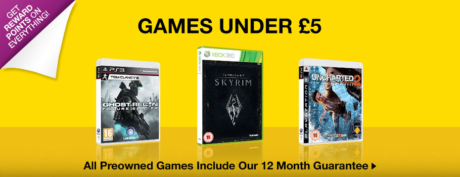 Preowned Under £5 - Buy Now at GAME.co.uk!