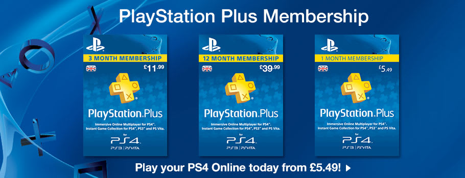 PlayStation Plus for PlayStation Network - Download Now at GAME.co.uk!