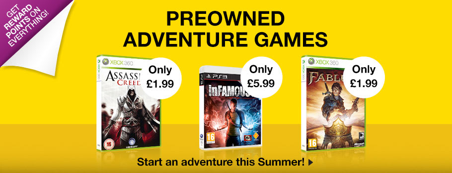 Preowned Adventure Games - Buy Now at GAME.co.uk!