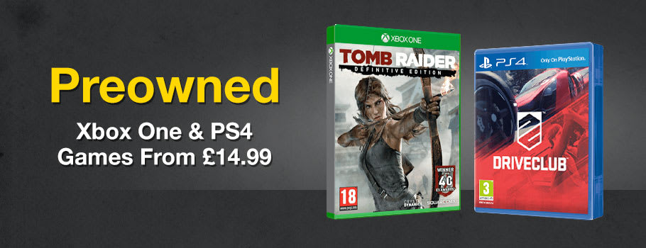 Preowned PS4 and Xbox One Games from £14.99