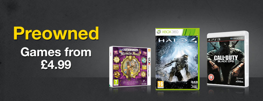 Preowned Games from 4.99