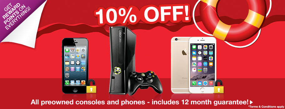 10% off Preowned Hardware and Phones - Buy Now at GAME.co.uk!