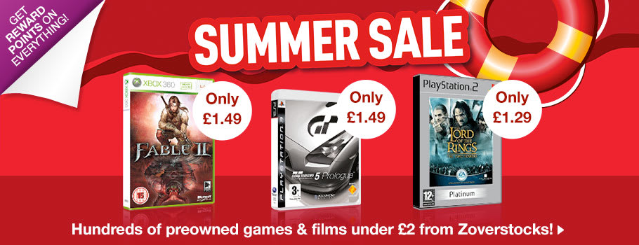 Zoverstocks Games and Films Under £2 - Buy Now at GAME.co.uk!