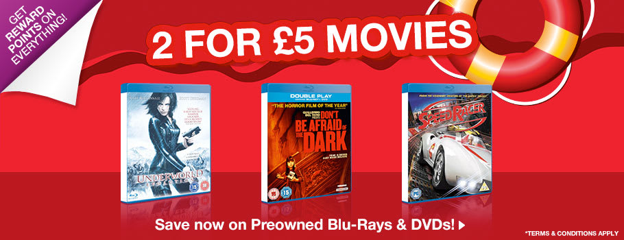 Movies 2 for £5 - Buy Now at GAME.co.uk!