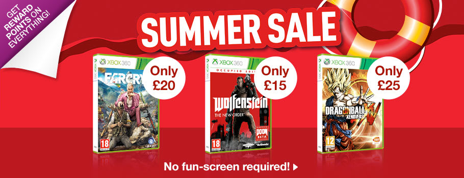 Summer SALE for Xbox 360 - Buy Now at GAME.co.uk!