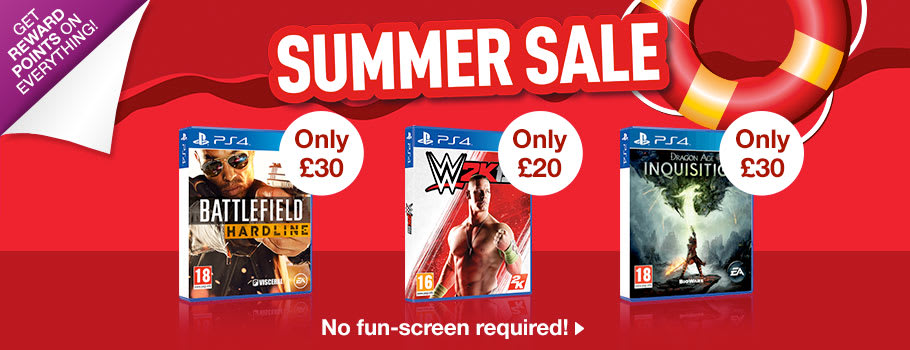 Summer SALE for PlayStation 4 - Buy Now at GAME.co.uk!