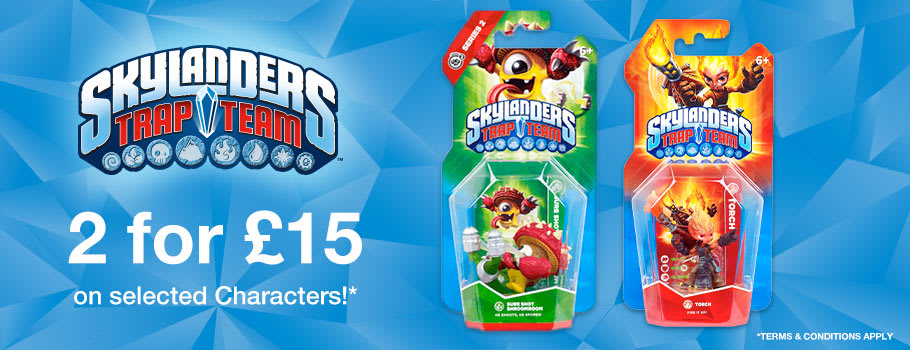 Skylanders 2 for £15, 2 for £20 and 3 for 2 offers available for PlayStation 4 at GAME.co.uk!