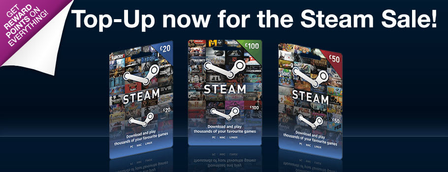 Steam Credit for PC Download - Download Now at GAME.co.uk!