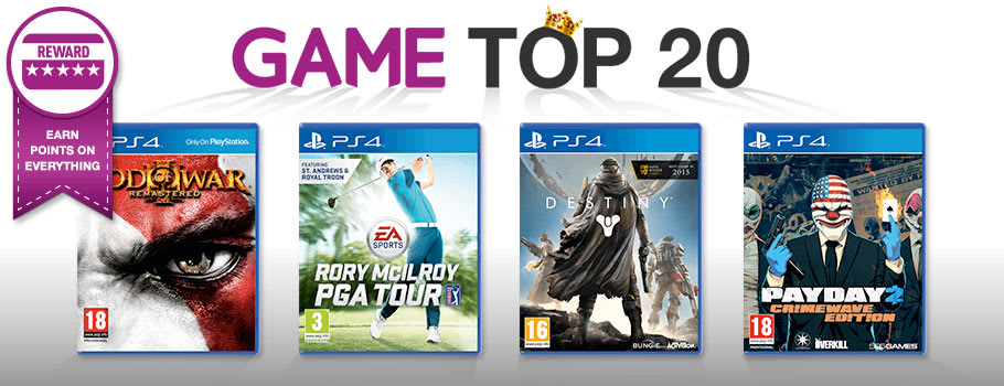 Top 20 for PlayStation 4 - Buy Now at GAME.co.uk!