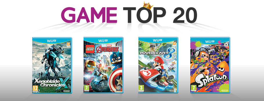 Top 20 games chart for Nintendo Wii U - Buy Now at GAME.co.uk!