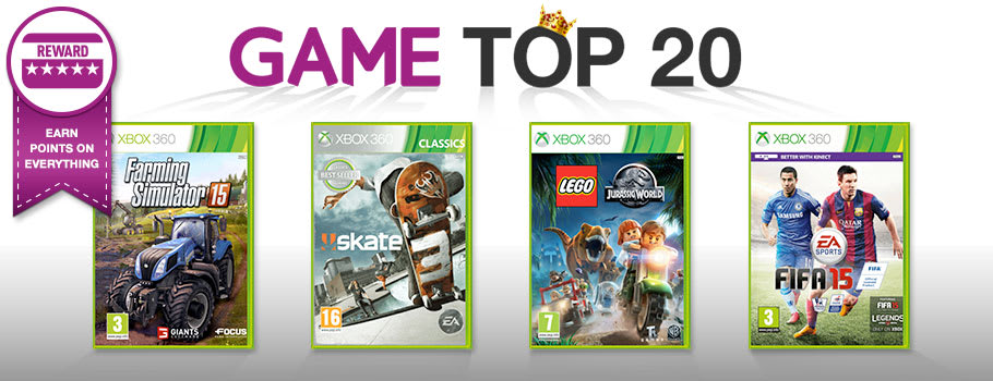 Top 20 for Xbox 360 - Buy Now at GAME.co.uk!
