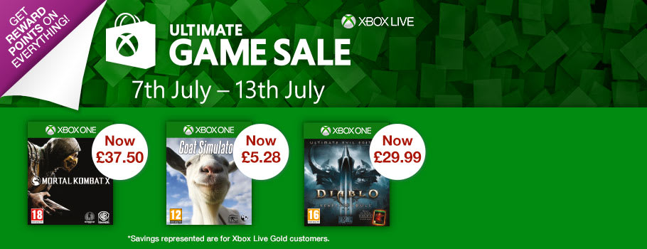 Xbox Marketplace Sale - Top Up Now at GAME.co.uk!