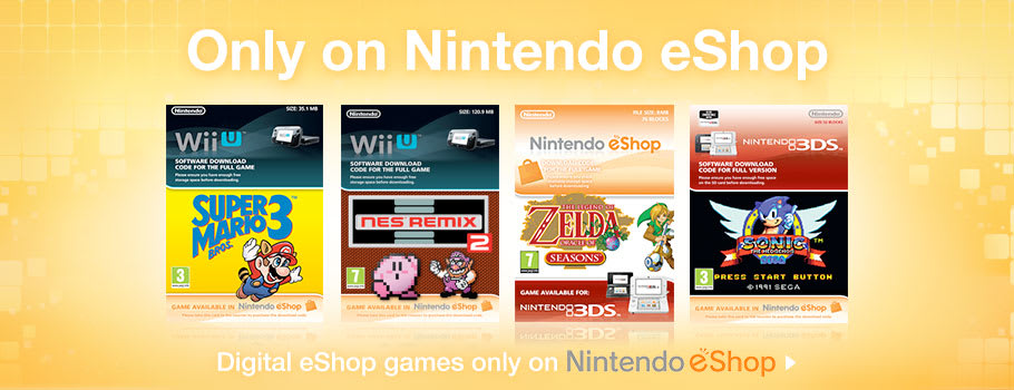 Only on eShop for Nintendo eShop - Download Now at GAME.co.uk!