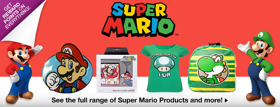 Super Mario Merchandise - Buy Now at GAME.co.uk!