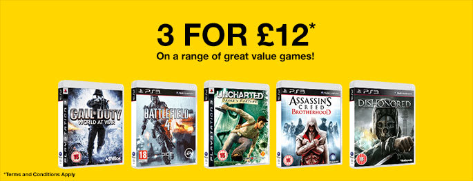 Pre-owned 3 for £12 for PS3 - Buy Now Only at GAME.co.uk!