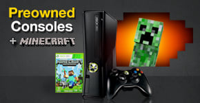 Preowned Consoles with Minecraft from £79.99!