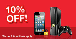 10% off Preowned Consoles and Phones