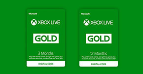Xbox Live Gold - Download Now at GAME.co.uk!