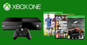 Xbox One Console With Halo Master Chief Collection, Call of Duty Advanced Warfare, Halo Console Skin & Forza 5 GOTY Download