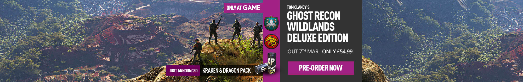 Tom Clancy's Ghost Recon Wildlands GAME Exclusive Deluxe Edition for Xbox One, PC and PS4 - Pre-order Now at GAME.co.uk!