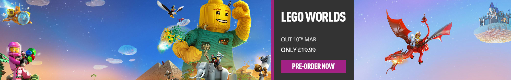 LEGO Worlds for Playstation 4 and Xbox One