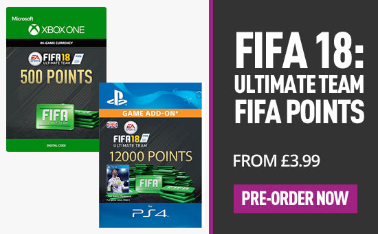 FIFA 18 FUT points - Download now at GAME.co.uk