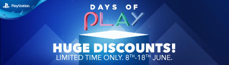 Playstation Days Of Play- Find out more at GAME.co.uk